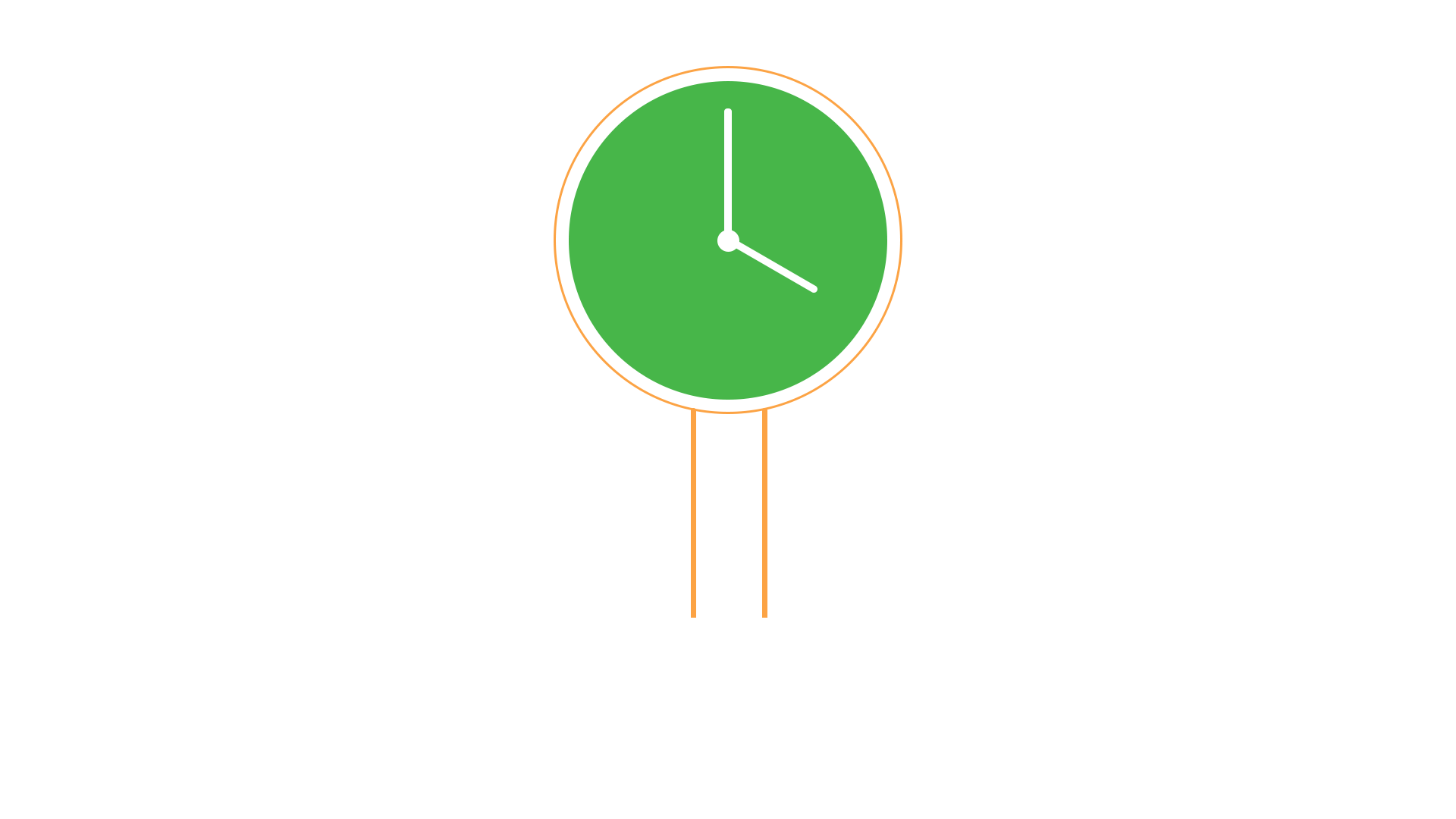 illustration of a clock inside a lightbulb with network lines branching from it
